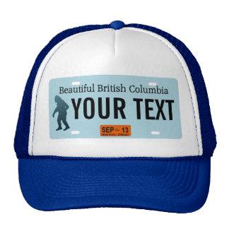 British Columbia Sasquatch License Plate Mesh Hat
