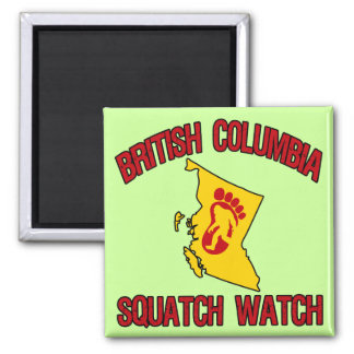 British Columbia Squatch Watch 2 Inch Square Magnet