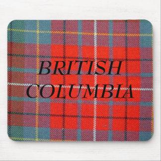 BRITISH COLUMBIA TARTAN MOUSEPAD