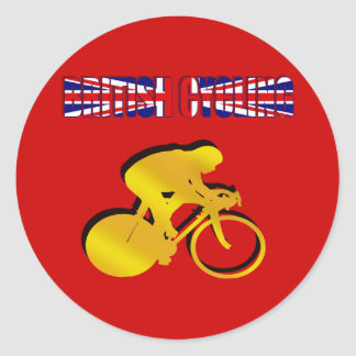 British Cycling Tshirts and Novelty Cycling gifts Classic Round Sticker
