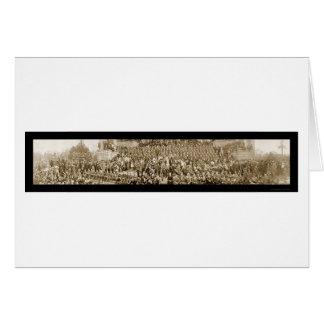 British Day Celebration Photo 1918 Card