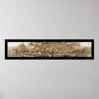 British Day Celebration Photo 1918 Print