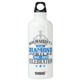 British Diamond Jubilee - Royal Souvenir Aluminum Water Bottle