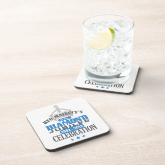 British Diamond Jubilee - Royal Souvenir Coaster
