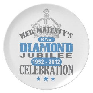 British Diamond Jubilee - Royal Souvenir Dinner Plate