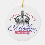 British Diamond Jubilee - Royal Souvenir Double-Sided Ceramic Round Christmas Ornament