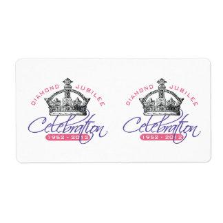 British Diamond Jubilee - Royal Souvenir Personalized Shipping Labels