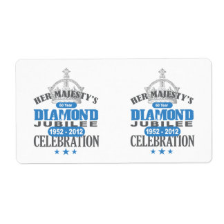 British Diamond Jubilee - Royal Souvenir Shipping Label