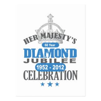 British Diamond Jubilee - Royal Souvenir Post Card