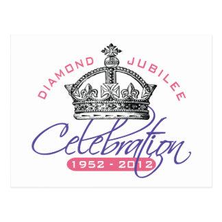 British Diamond Jubilee - Royal Souvenir Postcard