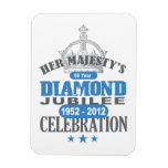 British Diamond Jubilee - Royal Souvenir Rectangle Magnets