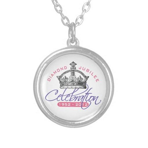 British Diamond Jubilee - Royal Souvenir Round Pendant Necklace