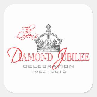 British Diamond Jubilee - Royal Souvenir Square Sticker