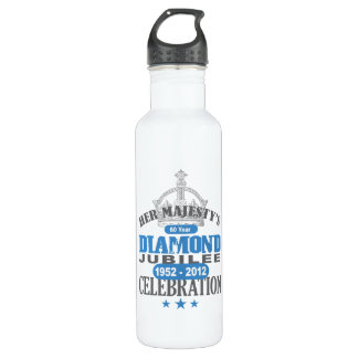 British Diamond Jubilee - Royal Souvenir Stainless Steel Water Bottle