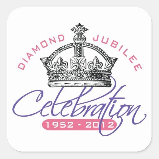 British Diamond Jubilee - Royal Souvenir Stickers