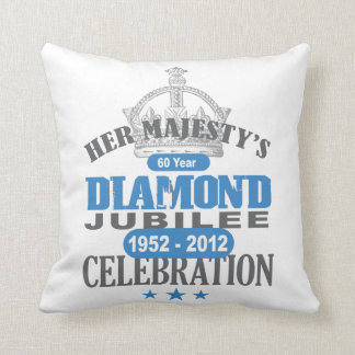 British Diamond Jubilee - Royal Souvenir Throw Pillow