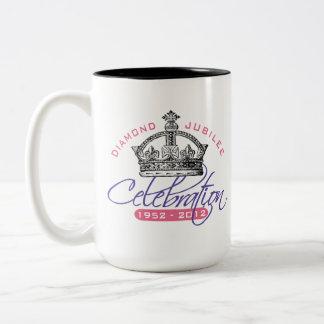 British Diamond Jubilee - Royal Souvenir Two-Tone Coffee Mug