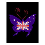 British Diva Butterfly In Black Print