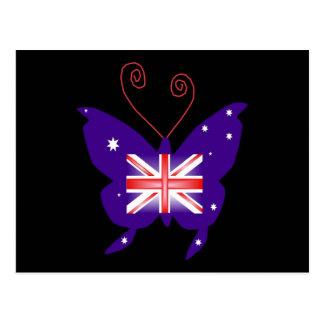 British Diva Butterfly Postcard