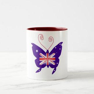 British Diva Butterfly Two-Tone Coffee Mug