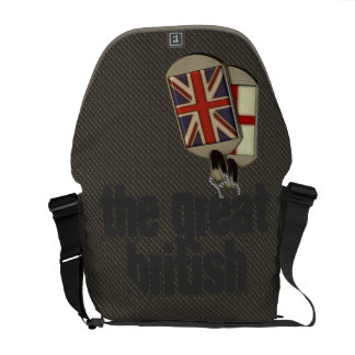 British Dog Tags Courier Bags