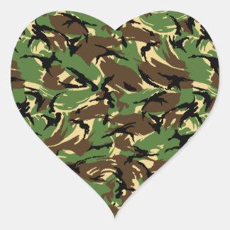 British DPM Camo Heart Sticker
