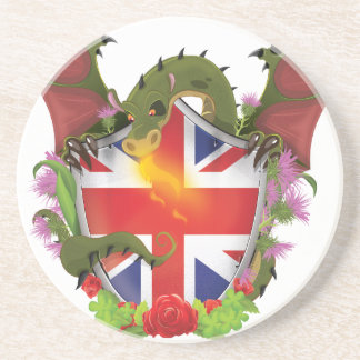 British Dragon Shield Drink Coaster