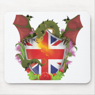 British Dragon Shield Mouse Pad