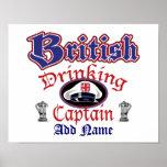 British Drinking Cptn Poster