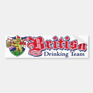 British Drinking Team Bumper Sticker