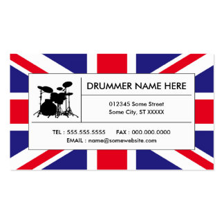 british drums business card templates