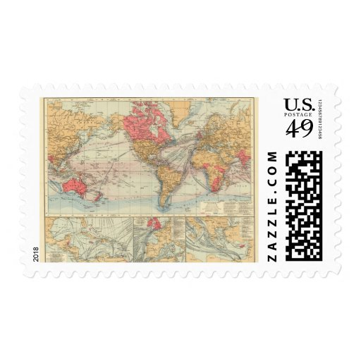 British Empire, routes, currents Postage Stamp