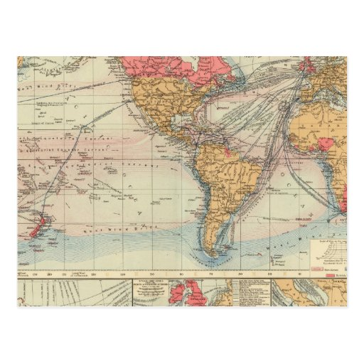 British Empire, routes, currents Postcard