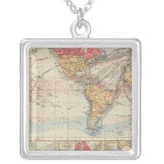 British Empire, routes, currents Silver Plated Necklace