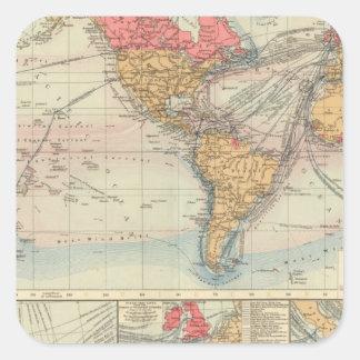 British Empire, routes, currents Square Sticker