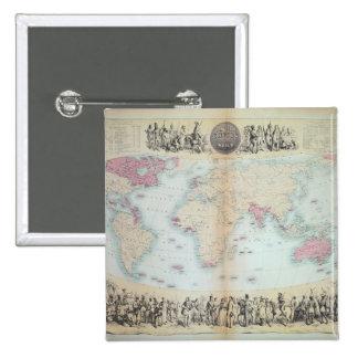 British Empire throughout the World Pinback Button