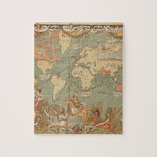 British Empire Vintage Victorian Map Jigsaw Puzzles