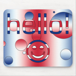 British English Gifts : Hello + Smiley Face Mouse Pad