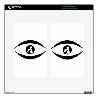 British eye decal for kindle fire