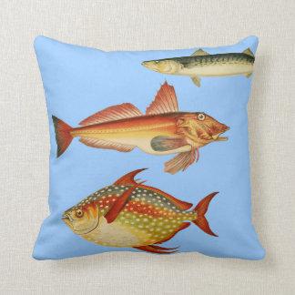 British Fish 1862 Throw Pillow