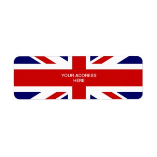 British flag address labels | Union jack design