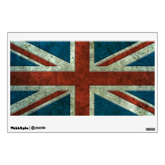 British Flag Aged Steel Effect Wall Decal
