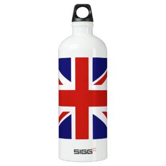 British flag aluminum water bottle