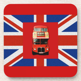 British Flag and London Bus Beverage Coaster