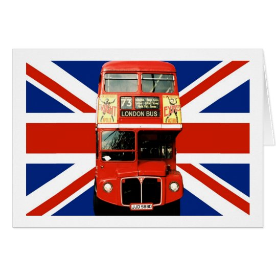 British Flag and London Bus Card