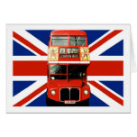 British Flag and London Bus Greeting Cards