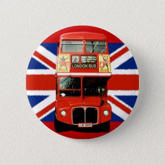 British Flag and London Bus Pin