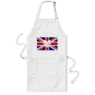 British flag aprons | distressed Union Jack  heart