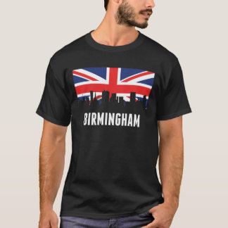 British Flag Birmingham Skyline T-Shirt