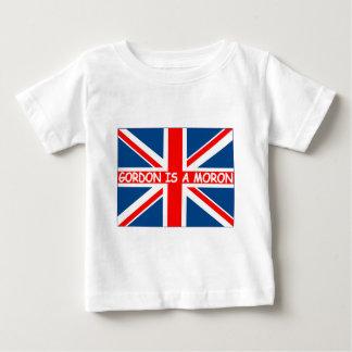 British flag,British humour anti Gordon Brown Baby T-Shirt